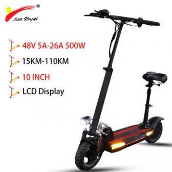 10 pulgadas 48V 500w batería de litio scooter Eléctrico de larga distancia...