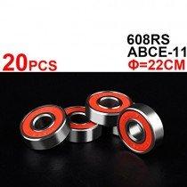 20 piezas ABEC-5 608RS 608ZZ- Patinete de 8 mm