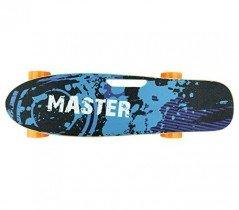 Skateboard eléctrico 70cm MASTER con mando inalámbrico azul