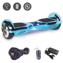Cool&Fun 6.5″ Hoverboard Patinete Eléctrico Scooter Talla LED 350W*2 (Chrome Blue)