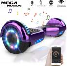 Mega Motion Monopatín Eléctrico E1-6.5″ Eléctrico Segway – Bluetooth morado