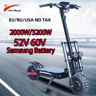 80 km/h 60V 3200W Scooter Eléctrico 11 pulgadas de doble Motor E...