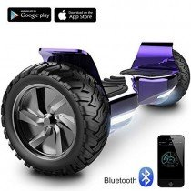 8.5″ Hoverboard Scooter Patinete Hummer SUV 700W Eléctrico Bluetooth APP self balancing (Chrom Purple)