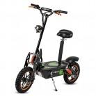 ECOXTREM Patinete/Scooter eléctrico Dos Ruedas con sillín Desmontable negro naranja