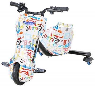 CARS12V Triciclo eléctrico Drift Scooter 360 Patinete para niños