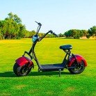 Citycoco 1400W/12Ah Rojo/Negro Moto Eléctrica Last Mille