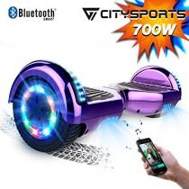 CITYSPORTS Hoverboard 6.5 Pulgadas Hover Board Bluetooth morado
