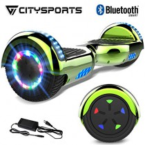 CITYSPORTS Patinete Eléctrico Hover 6.5 Pulgadas Board, Self Balancing Scooter green
