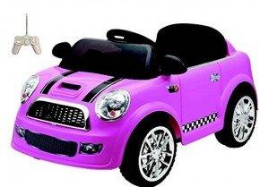 Coche Mini Mini Rosa 6V con Mando RC