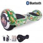Cool&Fun 6.5″ Balance Board Patinete Eléctrico con Bluetooth y LED (Navidad Verde)