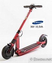 E-Twow Booster Samsung 10,5Ah Patinete,Rojo
