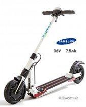 E-Twow Booster Samsung 7,5Ah Patinete,Blanco, Talla Única