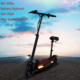 Envío Gratis Scooter Eléctrico 500W 48V 10 pulgadas batería opcional plegable monopatín...