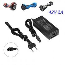 Fortspang Cargador de batería 42V 2A Adaptador de Corriente para Mini Smart Scooter eléctrico