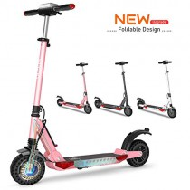FUTERLY Patinete Eléctrico Plegable, KUGOO S1 Pro E Scooter, 7.5AH 350W rosa