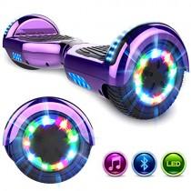 GeekMe Patinete Eléctrico 6.5 » Self Balance Scooter Las Ruedas LED Luces violeta