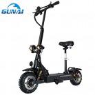 GUNAI Patinete Eléctrico Scooter Plegable con Manillar y Asiento Ajustable 3200W