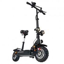 HUAEAST Patinete Electrico Adulto Scooter Plegable Todoterreno de Doble Unidad 3200w