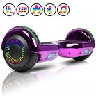 Huanhui Hoverboard 6.5″, Smart Self Balance LED Overboard morado