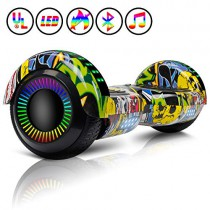 Huanhui Hoverboard 6.5″, Smart Self Balance LED Overboard a3 graffiti