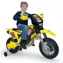 INJUSA – Moto Cross Thunder MAX con ruedines, batería 12V