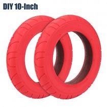 Konesky Neumático para Patinete Electrico, Reforma de DIY 10 Pulgadas rojo