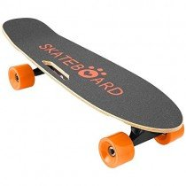 Lonlier Monopatín Eléctrico Skateboard Longboard con Altavoz naranja