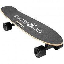 Lonlier Monopatín Eléctrico Skateboard Longboard con Altavoz negro