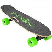 Lonlier Monopatín Eléctrico Skateboard Longboard con Altavoz verde