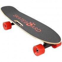 Lonlier Monopatín Eléctrico Skateboard Longboard con Altavoz rojo