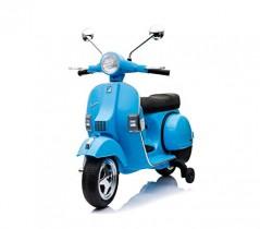 LT887 Moto eléctrica PIAGGIO para niños VESPA PX con ruedas 12V luces led – Azul oscuro