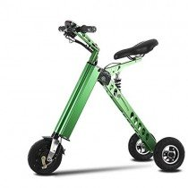 LxnMini Triciclo Plegable de 10 Pulgadas verde