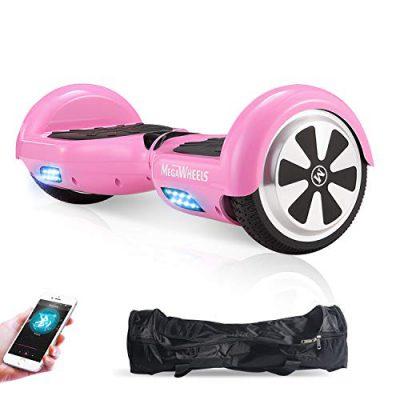 M MEGAWHEELS Scooter-Patinete Eléctrico Hoverboard, 6.5 Pulgadas con Bluetooth rosa