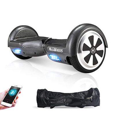 M MEGAWHEELS Scooter-Patinete Eléctrico Hoverboard, 6.5 Pulgadas carbon
