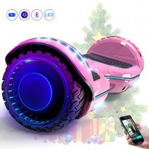 MARKBOARD Hover Scooter Board Patinete Eléctrico Scooter Monopatín Auto- Equilibrio rosa