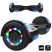 MARKBOARD Hover Scooter Board Patinete Eléctrico Scooter Monopatín Auto- Equilibrio con Bluetooth negro
