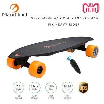 Maxfind Max2 Longboard patineta eléctrica 23MPH cuatro ruedas 1000 W * 2...