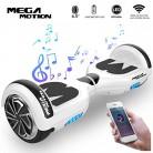 Mega Motion Monopatín Eléctrico E1-6.5″ Eléctrico Segway – Bluetooth – Seguridad UL blanco