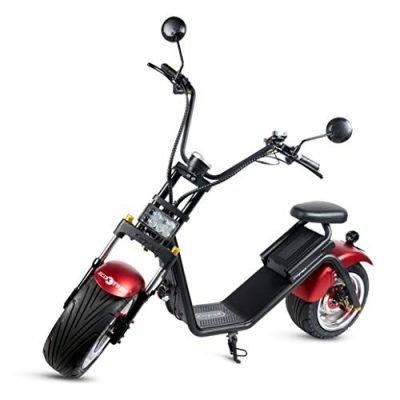 Moto City Coco, Caigiees, Guardabarros Rojo, Motor 1200W