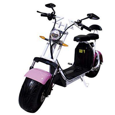 Moto eléctrica CityCoco Last Mille. 2000W/18.2aH (Doble Batería) Rosa/Blanco