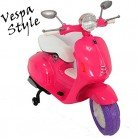 Moto Eléctrico 12 V Style Vespa Rosa