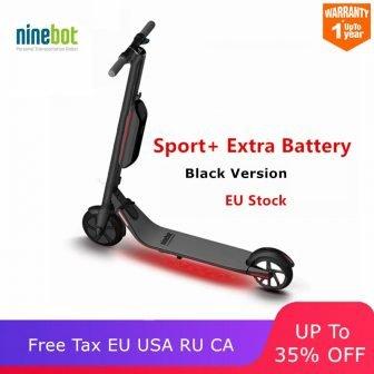 Original Ninebot KickScooter ES4/ES2 Scooter eléctrico inteligente de 2 ruedas plegable largo...