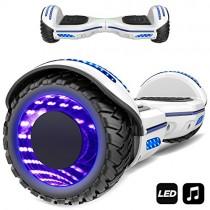 Patinete Eléctrico 6.5″ con Luces de Flash Ruedas, Luces LED