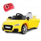 Playkin- Coche Infantil de batería, Color (Audi TT Amarillo)