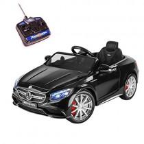 Playkin- Mercedes-Benz S63 Negro Coche Infantil de batería, Color