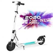 RCB Patinete Eléctrico E Scooter Plegable, Ultraligero para Adultos y Adolescentes Potente Motor blanco