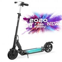 RCB Patinete Eléctrico E Scooter Plegable, Ultraligero para Adultos y Adolescentes Potente Motor negro