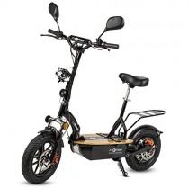 ECOXTREM Patinete/Scooter eléctrico Dos Ruedas con sillín Desmontable negro