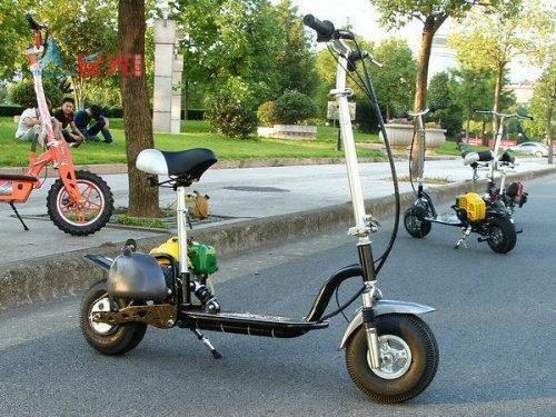 Scooter de gasolina de cuatro tiempos 49cc niños bicicleta de ciclismo niño Scooter Unisex 12-18 pulgadas Mini triciclo bebé bicicleta