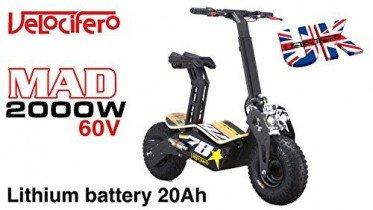 Scooter eléctrico Velocifero Mad 2000 W, 60 V